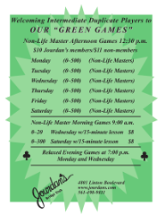 Green Game flier